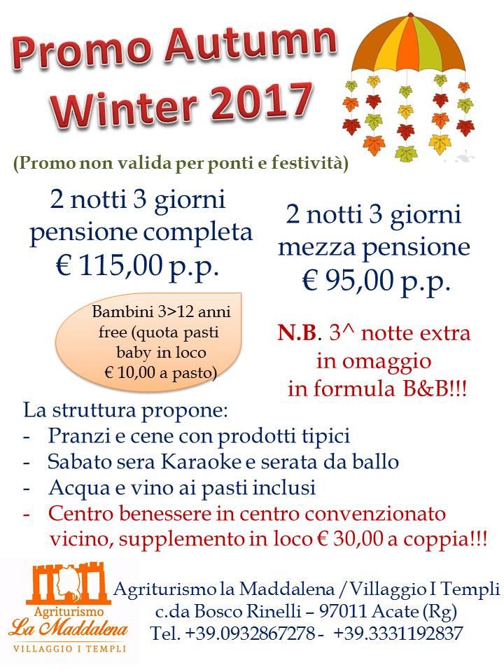 Promo Autunno-Inverno 2017